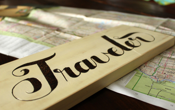 Typography through Pyrography